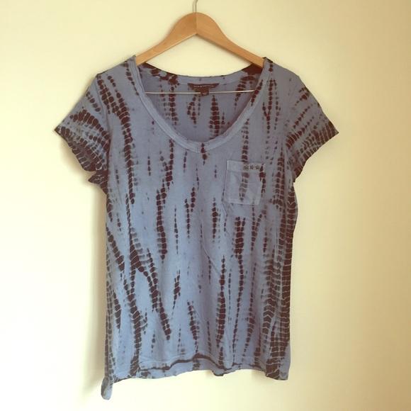 New Rock /& Republic Woman/'s Burnout T-Shirt Navy Tie Dye XS or XL